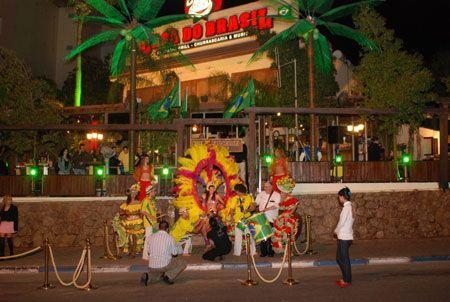 חזית מסעדת קאזה דו ברזיל באילת