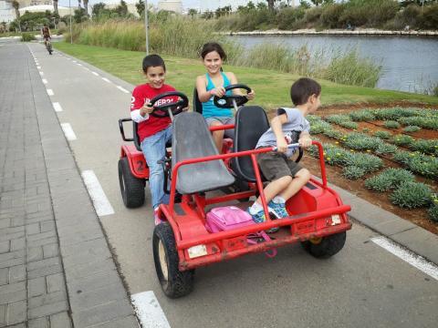 השכרת אופניים משפחתיים בפארק הירקון