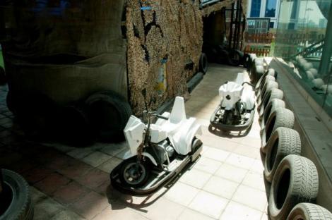 אופנועים מתנגשים בפארק האי