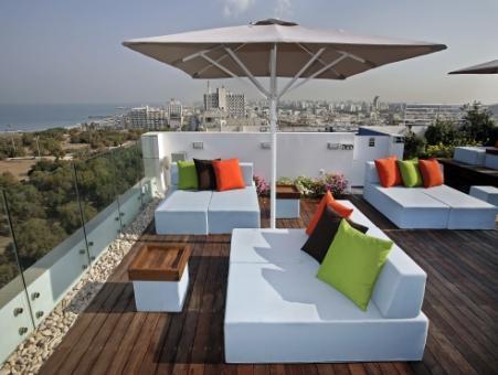 גג מלון מלודי תל אביב