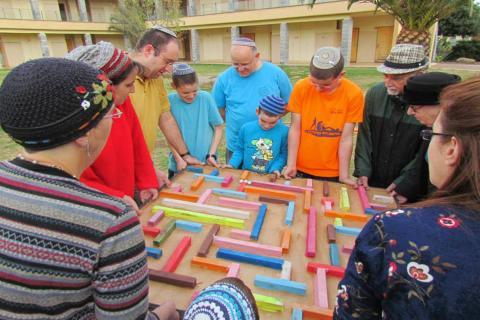 ברל'ה בשטח גיבוש למשפחות וקבוצות ברמת הגולן