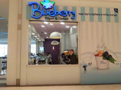 בלוברי blueberry גלידה איטלקית ויוגורט כשר בקניון ביג פאשן טבריה
