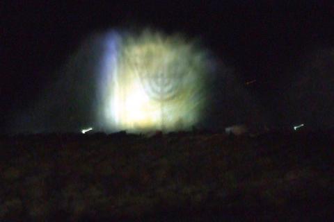 טיבריום מופע מים על המזח בכנרת