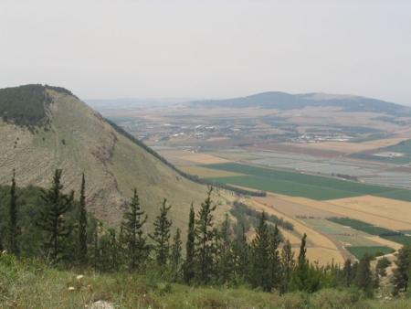 נוף מרכס הגלבוע