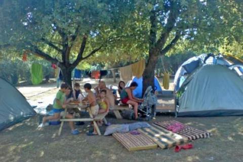 חניון לילה וקמפינג בגן לאומי חורשת טל