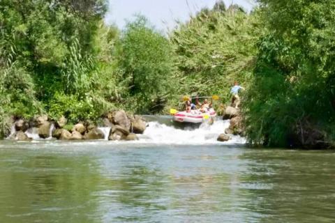 סירות קייאקים ורפטינג בפארק הירדן
