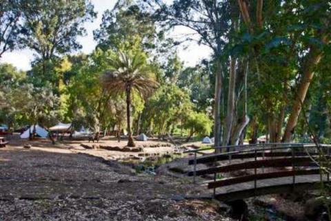 קמפינג בפארק הירדן