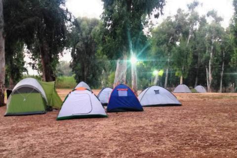 קמפינג גן לאומי ירקון