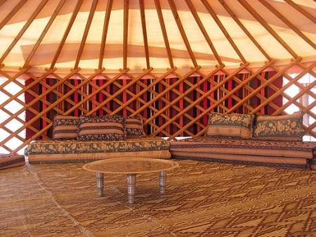 אוהל מונגולי בג'ינגס חאן בגולן