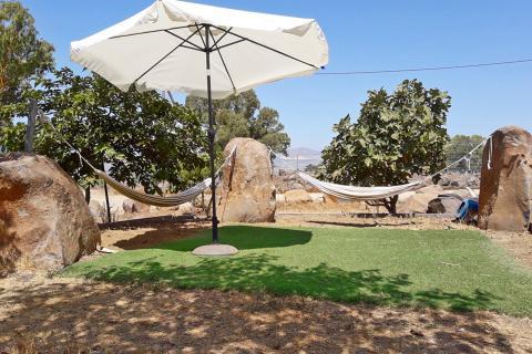 ערסלים בצימר רוגעלך אוהל מונגולי בגולן