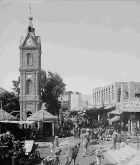 ככר השעון ביפו בראשית המאה שעברה