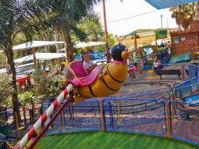 פארק אטרקציות לילדים בא לגן בקיבוץ יגור