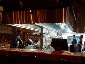 המטבח הפתוח במסעדת קלארו