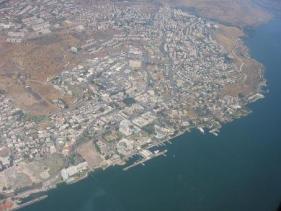 מבט מלמעלה על העיר טבריה