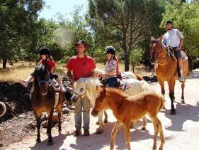 רכיבה על סוסים ברמת הגולן